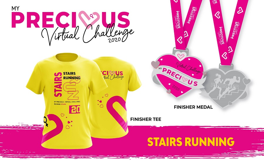 Finisher Tee And Medal - Stairs Running
