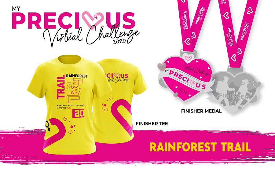 Finisher Tee And Medal - Rainforest Trail