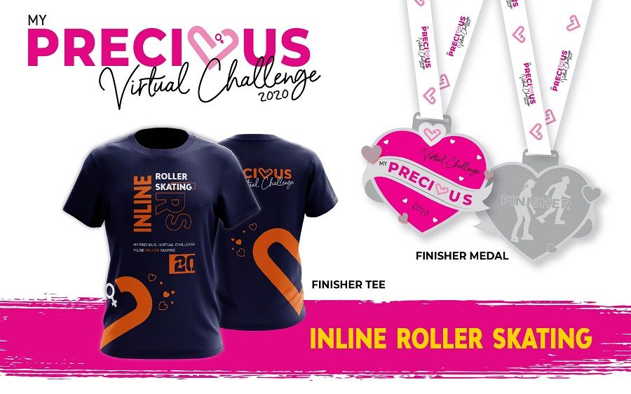 Finisher Tee And Medal - Inline Roller Skating