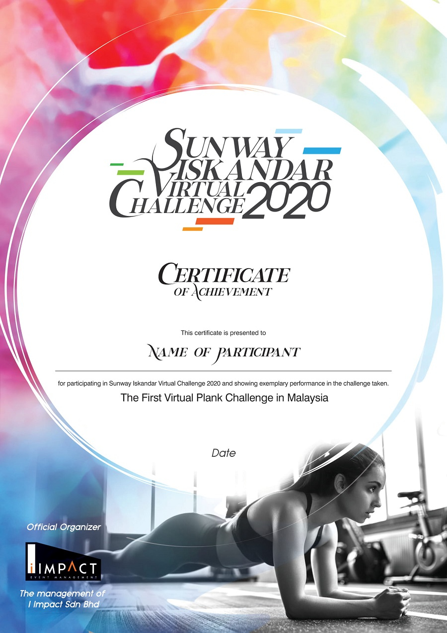 Sunway Iskandar Virtual Run 2020 - E-Cert