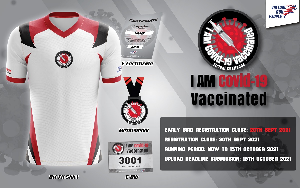 I Am Covid-19 Vaccinated Virtual Challenge 2021 Banner