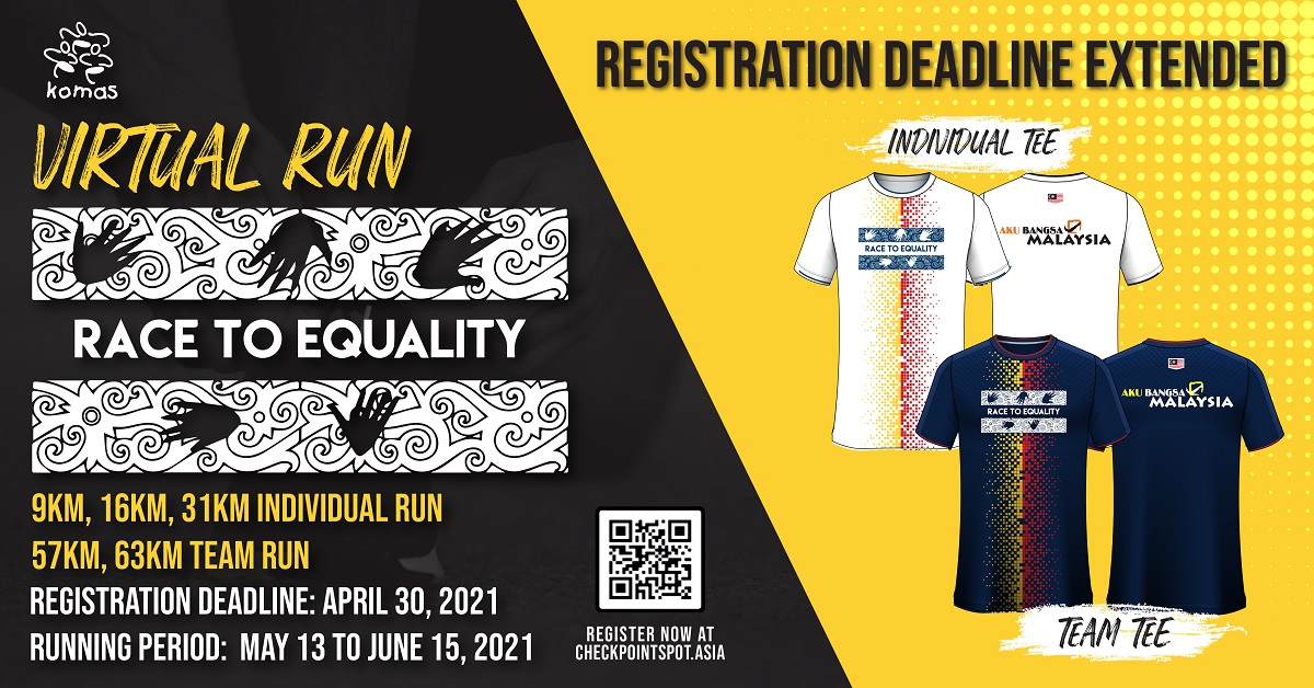 Race To Equality Virtual Run 2021 Banner