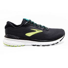 Brooks Men Adrenaline GTS 20 (Medium D width) – Black/Lime/Blue Grass