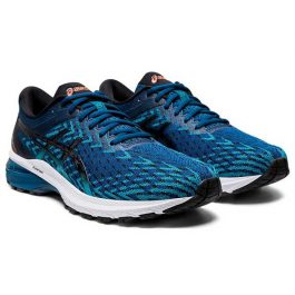ASICS Men GT-2000 8 Knit (Medium D width) – Mako Blue/Black