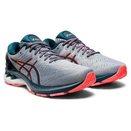 ASICS Men Gel-Kayano 27 (Medium D width) – Sheet Rock/Magnetic Blue