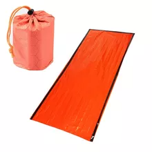 Lightweight Pocket Size Outdoor All Weather Camping PE Emergency Survival Thermal Bivvy Sack (with Waterproof Bag Cover)