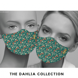 THE DAHLIA COLLECTION MATCHING FACE MASK