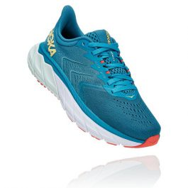 HOKA ONE ONE Women Arahi 5 (Medium B width) – Mosaic Blue/Luminary Green
